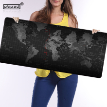 Купить с кэшбэком pbpad store new Super Large Size 90cm*40cm The World Map mouse pads Speed Computer Gaming Mouse Pad Locking Edge Table Mat