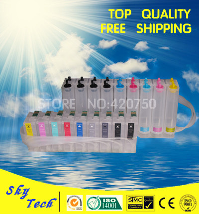 Empty CISS suit Epson Sure Color P600 , Continuous ink sysytem  for T7601 - T7609 , with ARC chips ciss suit for epson stylus photo r1900 suit for t0870 t0871 t0879 series fulll dye ink ciss with arc chips