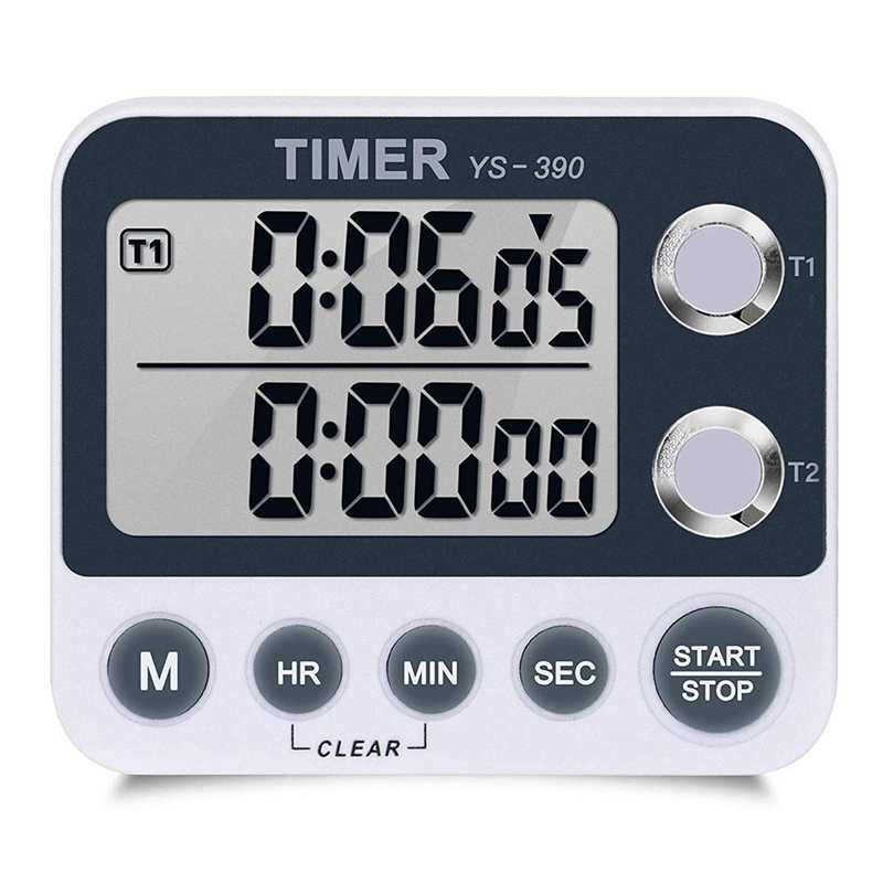 Digital Kitchen Timer Magnetic Back,Cooking Timer,Large Display Loud Alarm Count-Up & Count Down For Cooking Baking Sports Gam