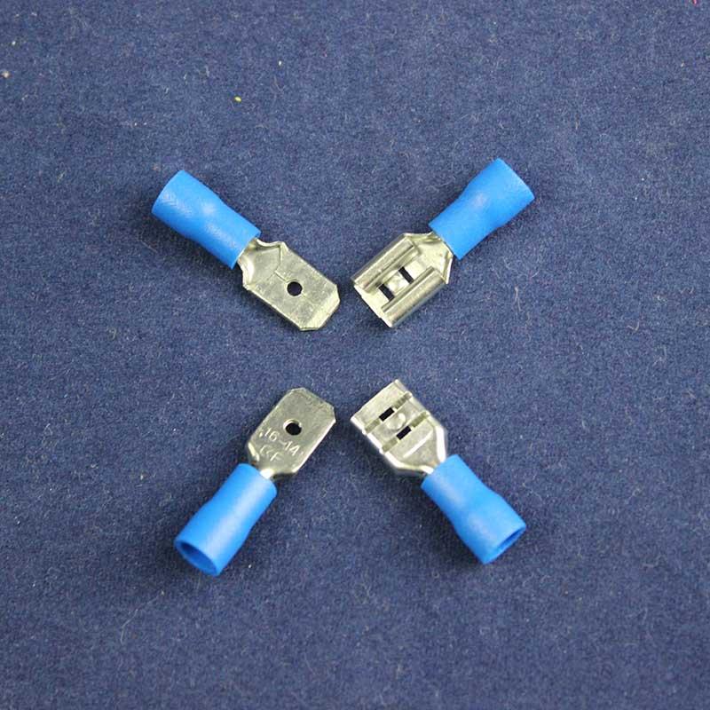 30pair Vinyl Female/ Male Crimp Wire Terminal Blue 16 14 Ga AWG ...