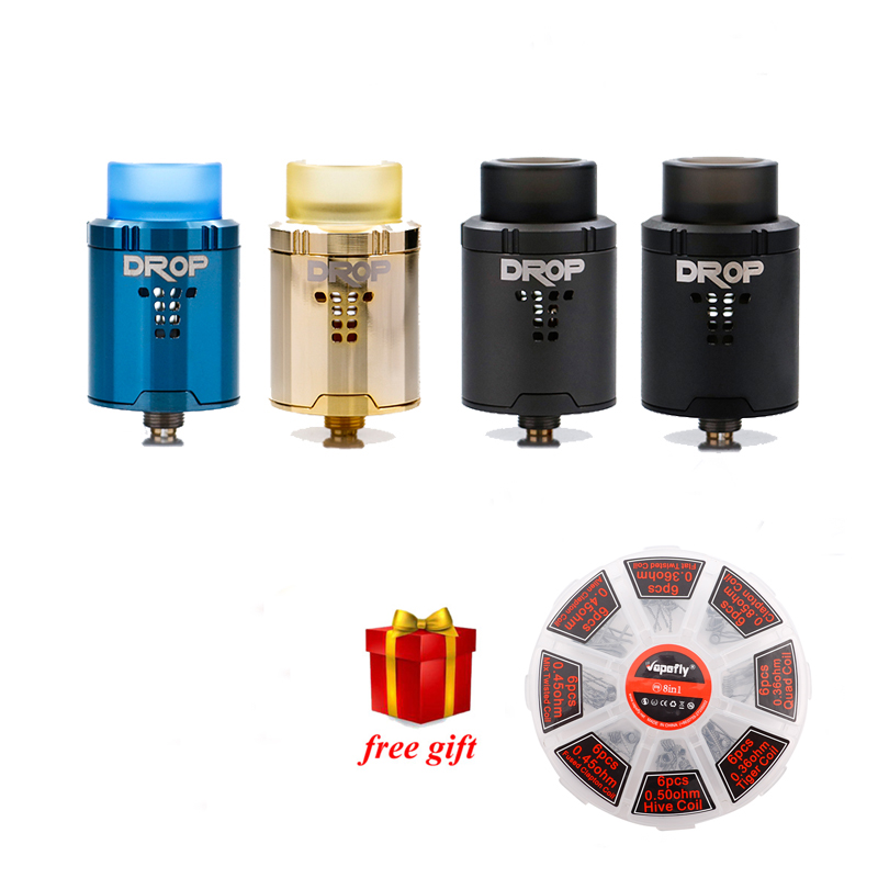 Free gift!!! Digiflavor Drop RDA with BF squonk 510 pin 24mm electronic cigarette tank large post-holes Stepped airflow design