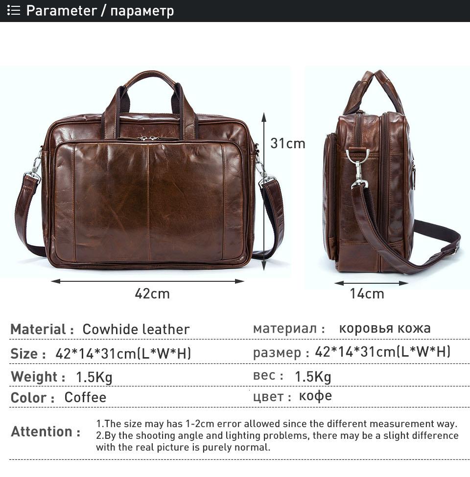 1 man bag genuine leather