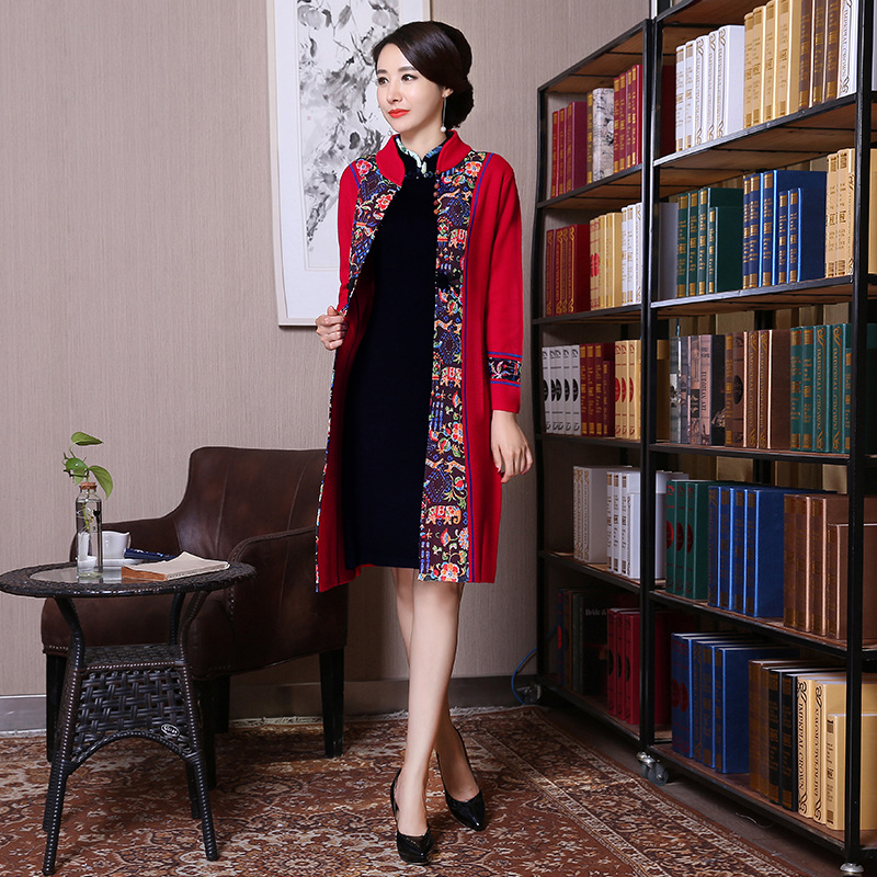 Chinese Wind Temperament Of Cultivate One's Morality Long-sleeved Long Coat Collar Cheongsam Chinese Clothes Aliexpress Uk