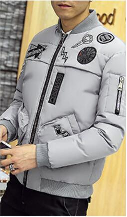 Free shipping  2016 Qiu dong young fashion leisure man with thick warm winter jacket tide
