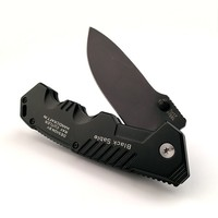 Black Blade Cold Steel Folding Pocket Knife Tactical Survival Knives Camping Knives Camping Rescue Tools Tactical
