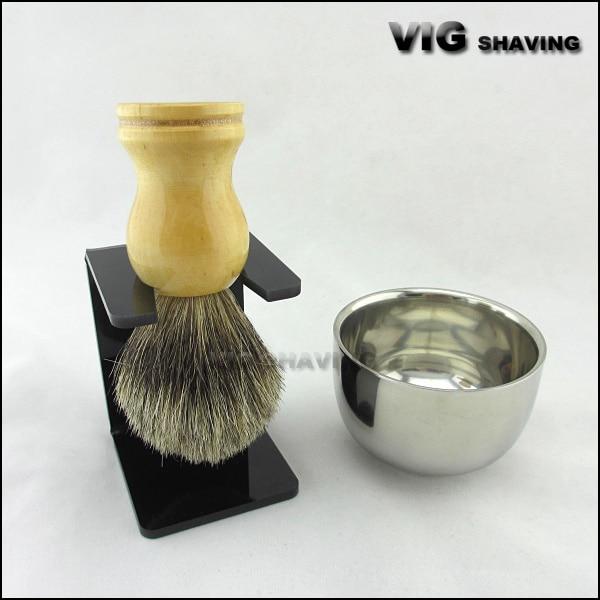 Shaving Tool Set Men Gift Drip Brush Stand Mix Badger Hair Brush  Bowl Mug