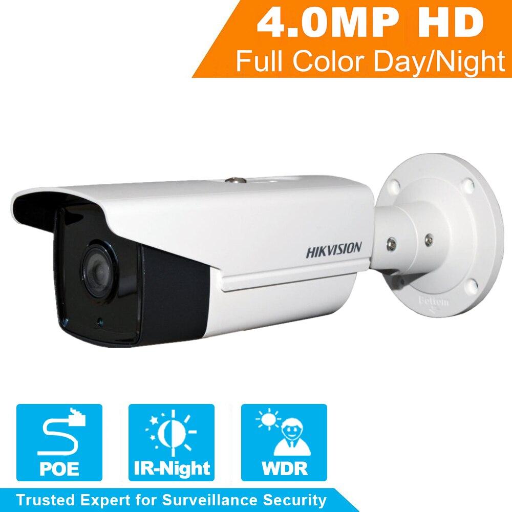 Original Hikvision English Version CCTV Camera 4.0 megapixel Bullet IR Camera POE IP Camera DS-2CD2T42WD-I8 WDR Function