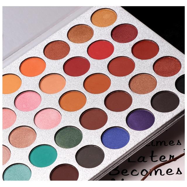 Beauty Glazed 35Color eyeshadow pallete Glitter Makeup Matte Eye shadow Long-lasting make up palette maquillage paleta de sombra 2