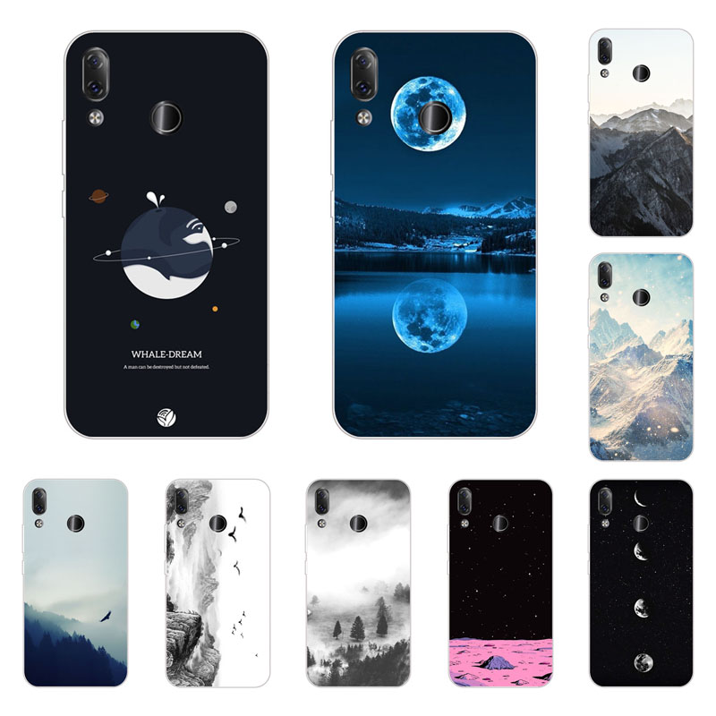 Lenovo z5 Case,Silicon view Space Painting Soft TPU Back Cover for Lenovo z5 protect Phone bags
