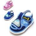 Лето новое прибытие дети shoes baby canvas shoes скольжению звук ребенка малыша сандалии