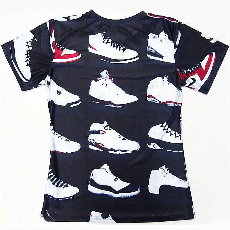 4a390c993 JORDAN 23 Classic Shoes 3D Printed T-shirts Hip Hop Funny Men's T ...