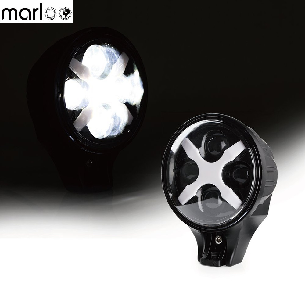 Marloo Car 6 inch 60W Led Spotlight Fog Light LED Work light For Jeep Wrangler Trucks SUV Off Road 4X4 With White X DRL brand new universal 40 w 6 inch 12 v led car work light daytime running lights combo light off road 4 x 4 truck light