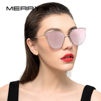 MERRY S Women Fashion Sunglasses Classic Brand Designer Sunglasses Vintage Twin Beam Metal Frame Glasses S