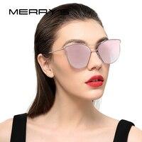 MERRY S Women Fashion Sunglasses Classic Brand Designer Sunglasses Vintage Twin Beam Metal Frame Glasses S