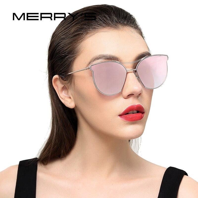 MERRY'S Women Fashion Sun glasses Classic Brand Designer Sun glasses Vintage Twin Beam Metal Frame Glasses S'8014