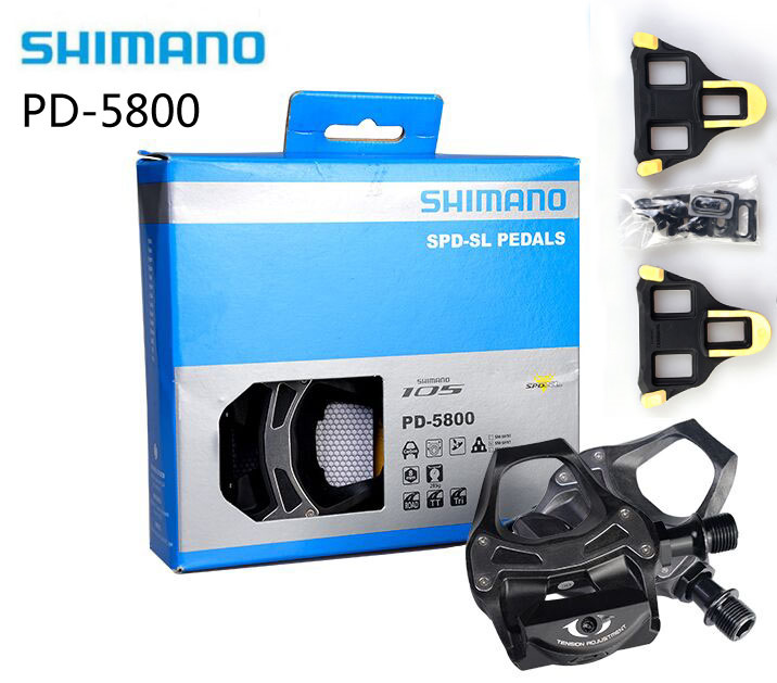 Shimano PD-5800 SPD pedals Self-Locking Cycling Road Bike pedales PD 5800 Components Using for Bicycle Racing Cleats Parts shimano deore xt pd m8000 self locking spd pedals mtb components using for bicycle racing mountain bike parts