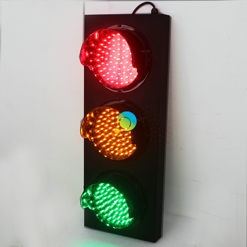 Cold-rolled Plate Material Red Yellow Green Led Traffic Signal Light Remote 200mm Fine Quality Roadway Safety