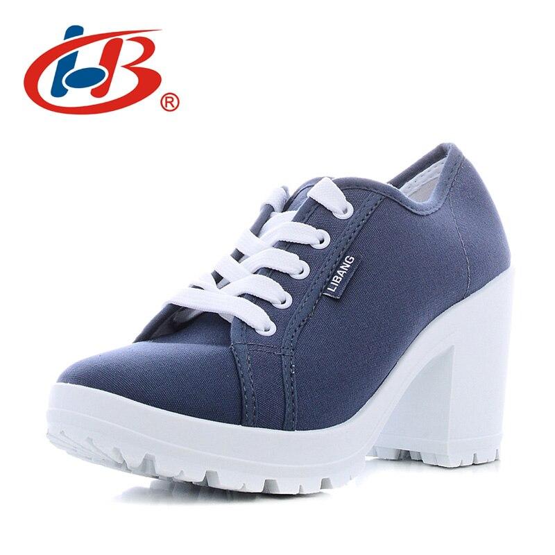 Libang высокое качество Каблучки Обувь удобные женские Женская обувь на платформе дышащая туфли-лодочки на платформе и на танкетке женская об...
