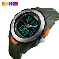 New Men Sport Watches Dual Display Digital Quartz Watch SKMEI Brand Outdoor Sports LED Waterproof Wristwatches