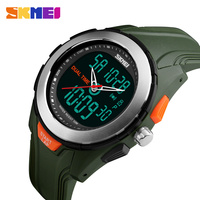 New Men Sport Watches Dual Display Digital Quartz Watch SKMEI Brand Outdoor Sports LED Waterproof Wristwatches