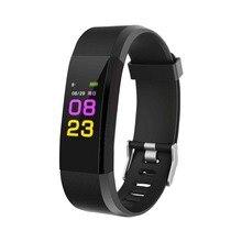 HOT 115PLUS Smart Band Support Heart Rate Blood Pressure Calorie Step Monitoring IP67 Waterproof Fitness Bracelet Random color