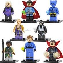 Single Sale Marvel Doctor Strange Beast Black bolt Clea Mr Fantastic Baron Mordo Karl Building Blocks Super Hero Toys Figure