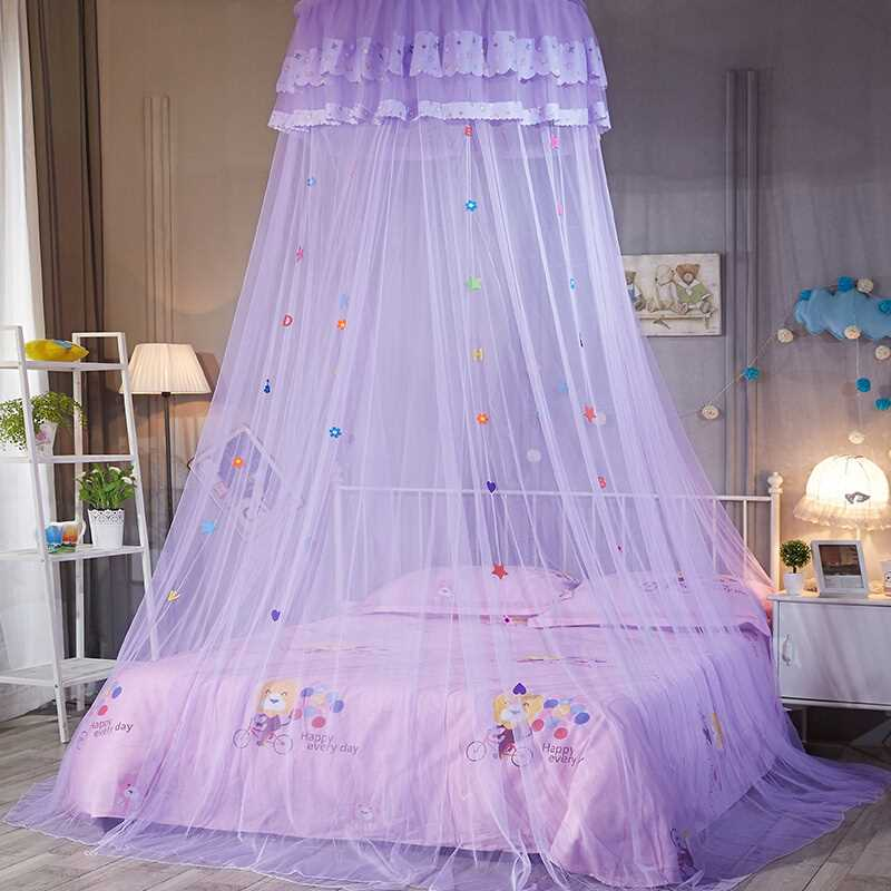 Folding Kids Mosquito Net Lace Dome Bedding Canopy For Double Bed Fine Mesh Canopy Bed Net For Princess Bed Bulk Tent zanzariera
