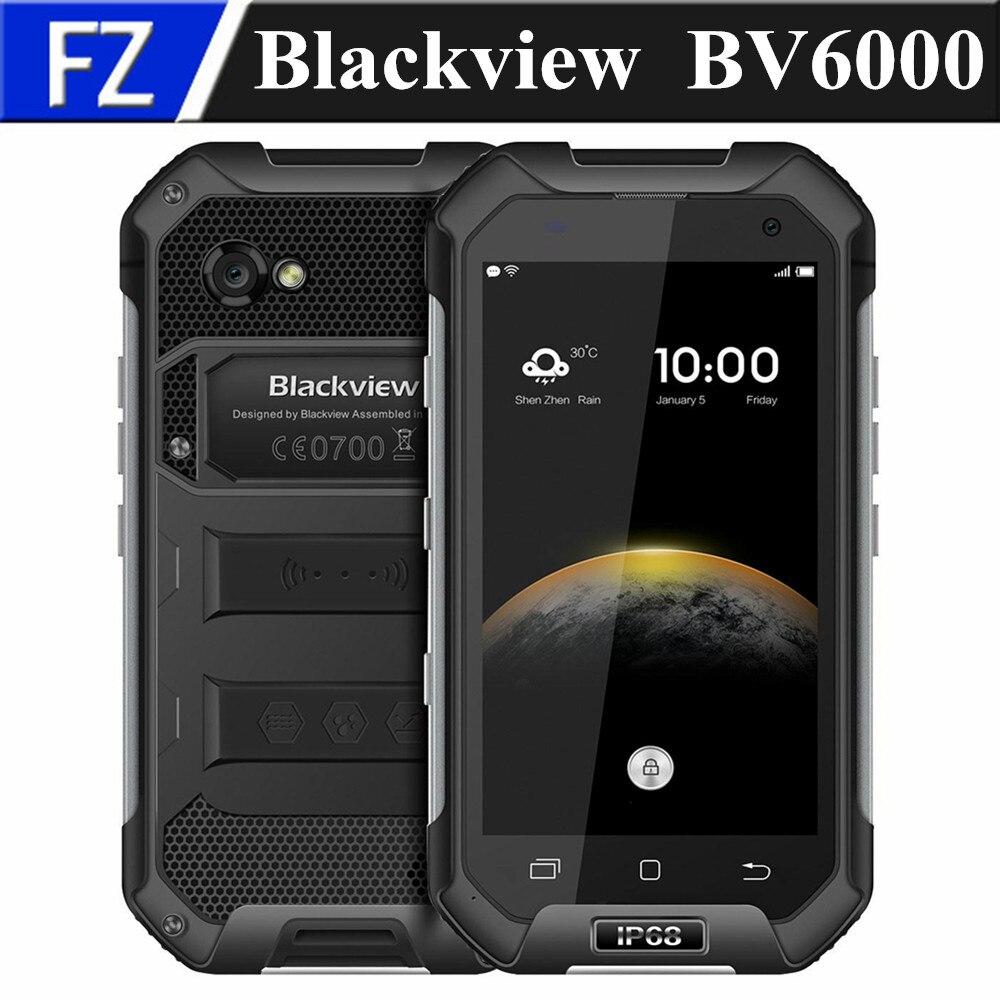 "Цена за Оригинал BLACKVIEW BV6000 4.7 ""водонепроницаемый IP68 MTK6755 окта основные Android 6.0 4 Г LTE мобильный телефон 13MP 3 ГБ RAM 32 ГБ ROM dual sim GPS"