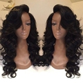 100% Brazilian Full Lace Wig Virgin Human Hair Glueless Full Lace Wigs For Black Women
