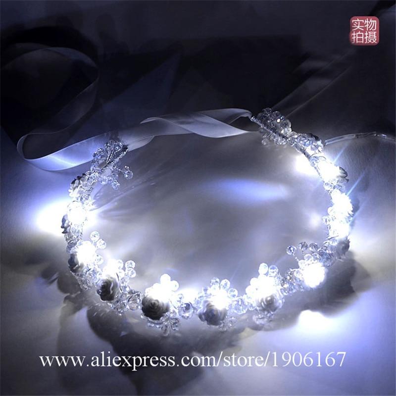 Date LED lumineux bande de cheveux lumière LED mariage Anadem pour fête de mariage scène spectacle saint valentin présent
