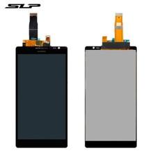 Хорошее Skylarpu черный полный ЖК-дисплей для huawei Ascend Коврики MT1-U06 сотовый телефон полный ЖК-дисплей дисплей с сенсорным экраном Бесплатная доставка