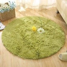 Fluffy Round Rug Carpets for Living Room Kilim Faux Fur Carpet Kids Long Plush rugs bedroom Shaggy Area White