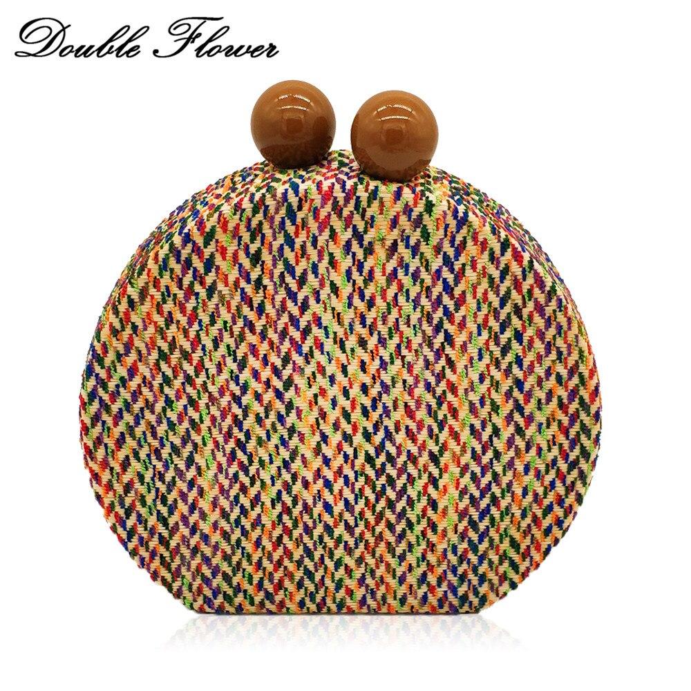En Femmes Chaîne Sac Fleur À Mode Main Double Soirée Black Handbags brown  Fermoir Jour Multicolore Boule Embrayages Bandoulière ... de85455df26
