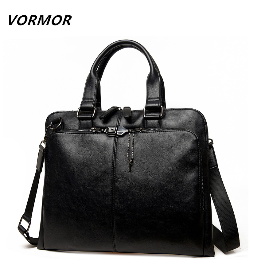 VORMOR Brand Men bag Casual men's briefcase shoulder Bags Laptop crossbody messenger bag men leather men's travel bags 2017 canvas leather crossbody bag men briefcase military army vintage messenger bags shoulder bag casual travel bags