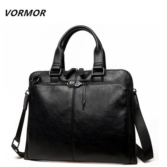 VORMOR Brand Men bag Casual men's briefcase shoulder Bags Laptop crossbody messenger bag men leather men's travel bags 2017