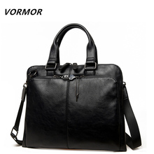 VORMOR Brand Men bag Casual men's briefcase shoulder Bags Laptop crossbody messenger bag men leather men's travel bags 2017