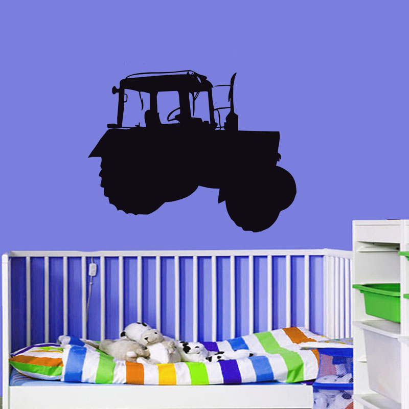 Farm Tractor Vinyl Wall Decals Children Truck Art Stickers Kids Room Wall Paper Home Decor Removable Adhesive Wall Sticker