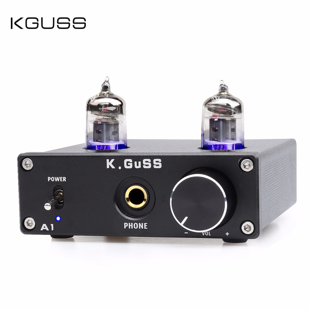 K.GUSS A1 Vacuum Tube Headphone Amp 6K4 6J1 Low Ground Noise Integrated Stereo Amp Audio HIFI Output Protection for Headphone цена