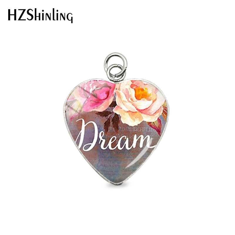 New Handmade Bible Verse Pendants Faith,Dream,Love,Hope,Believe,Art Glass Dome Charms Jewelry Quote Accessory Christian Gifts