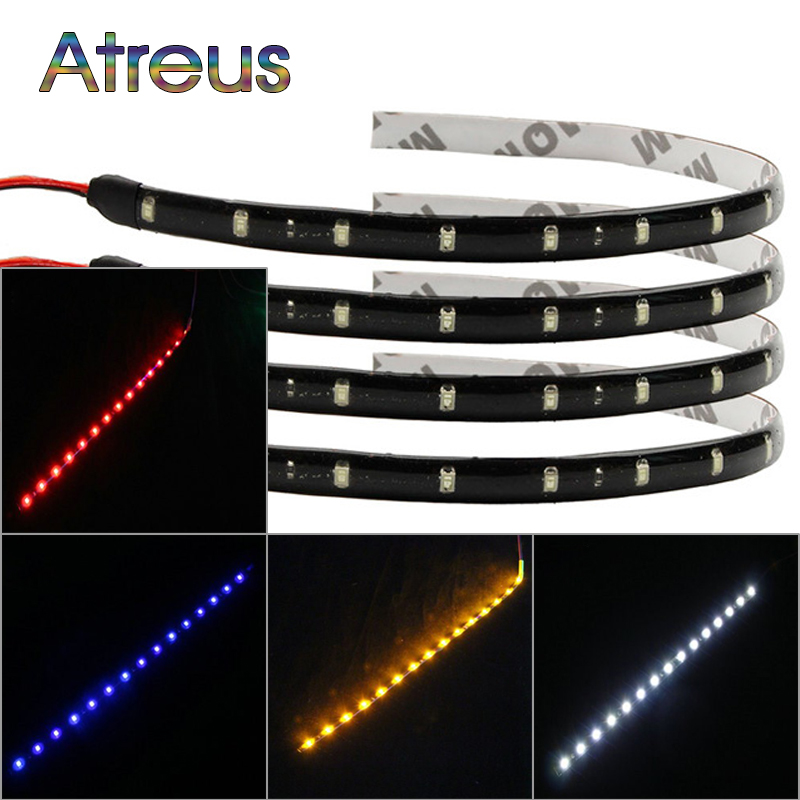 Atreus 2X Car LED Light Strip For BMW e46 e39 VW polo golf 4 5 6 Ford focus 2 3 Buick accessories White SMD Decoration Light Bar