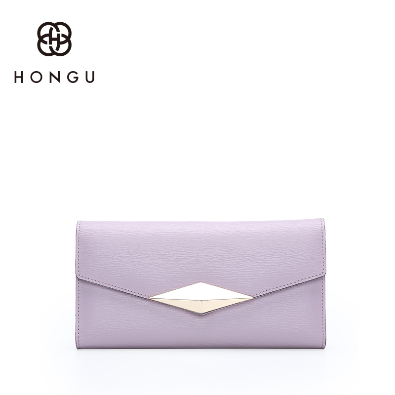 Hongu Women Genuine Cow Leather Long Wallet Female Women Evening bag Famous Brands Ladies Long Clutches With Coin Purses Holder teemzone top european and american fashion evening bag ladies genuine leather long style hasp note compartment wallet j25