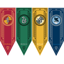 New College Flag Banners Gryffindor Slytherin Hufflerpuff Ravenclaw Boys Girls Kids Decor Harripotter Christmas Party Supplies