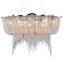 Wongshi современная алюминиевая цепочка в скандинавском стиле, люстра с кисточкой, Подвесная лампа, креативный светильник для ресторана, лобби