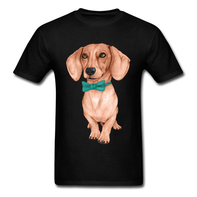 8dba4f7e I Love My Dog Pet Animal T-Shirts Men Dachshund Wiener Dog Drawing Picture  Tshirt For Handsome Man Cute Teckel Cotton Tees