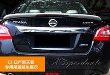 High Quality Plastic Unpainted Primer LED Brake Light Spoiler Wing For Nissan Altima Teana 2013 2014 2015