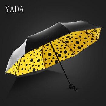 YADA Wave pattern Charms Folding Umbrella Rain Women uv High Quality Umbrella For Womens brand Windproof Custom Umbrellas YS152 yada charms solid color umbrella women uv high quality foldable rain umbrella for men
