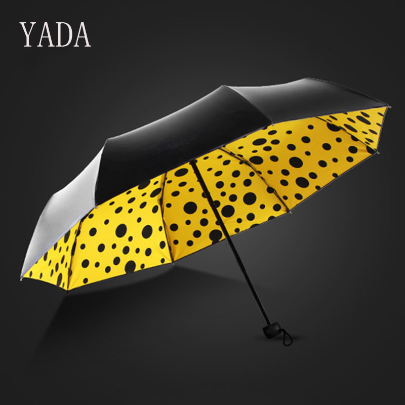 Складной зонт YADA с волнистым узором для женщин, УФ зонт высокого качества для женщин, брендовые ветрозащитные индивидуальные зонты, YS152|Зонтики|   | АлиЭкспресс