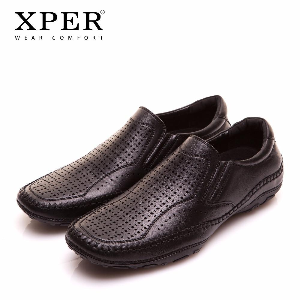 2018 XPER Brands Fashion Men Flats Men Casual Shoes Slip On Mocassins Black Men Loafers ...
