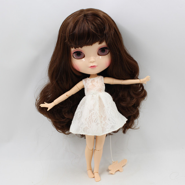 Joint Body ICY DBS doll 30CM nude small chest borwn hair with bangs Fortune Days No.230BL0312  free shipping
