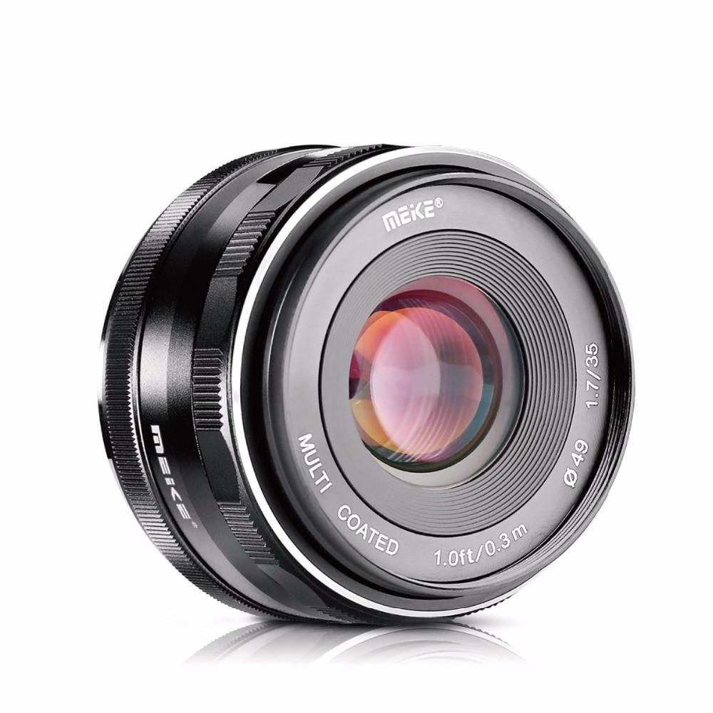 c92c8d004199 цена MEKE Meike MK-35mm F1.7 Large Aperture Manual Focus Camera Lens for